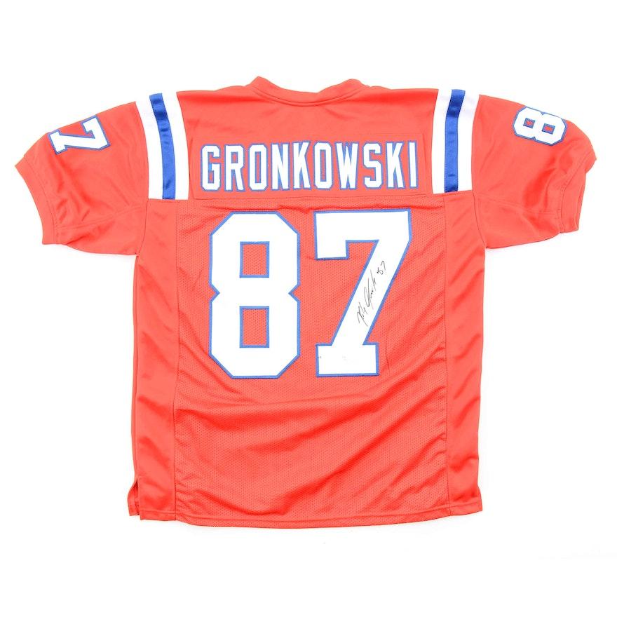 newest 8bd32 b4c3c Rob Gronkowski Signed