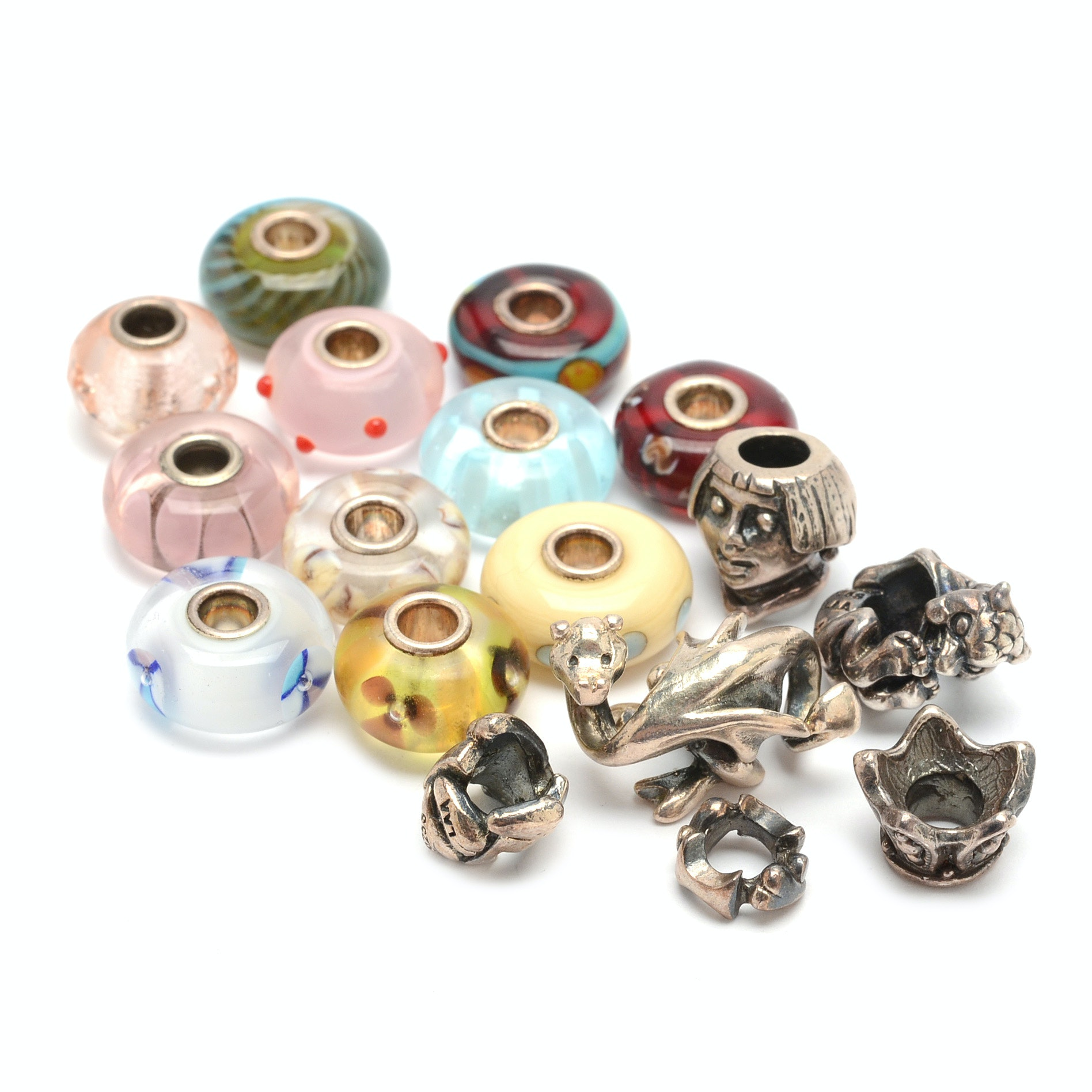 Sterling Silver and Glass Trollbeads