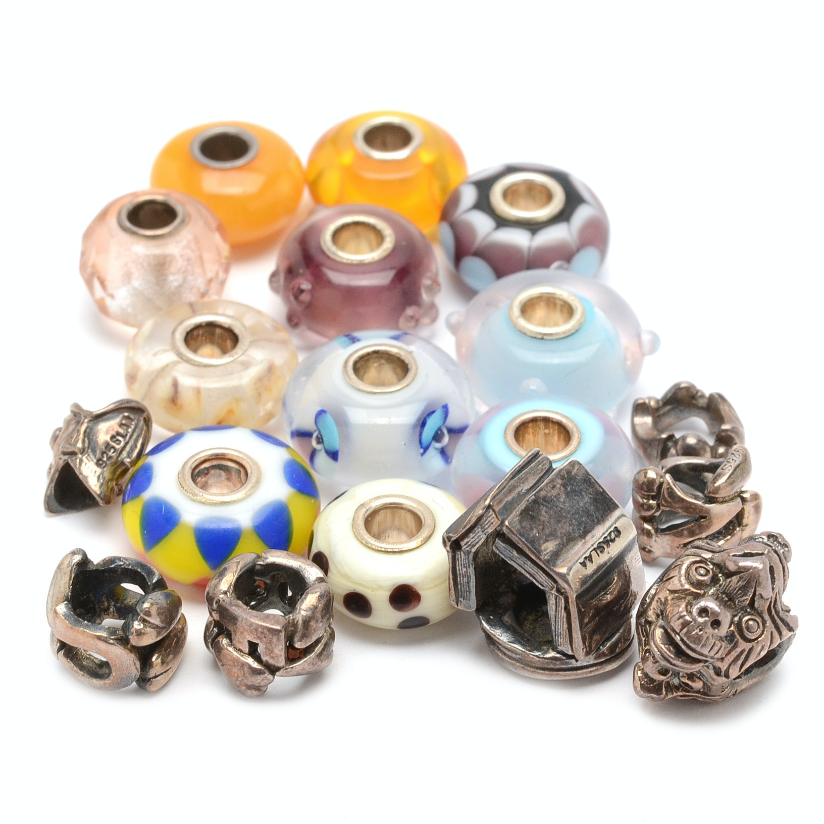 Sterling Silver and Art Glass Trollbeads