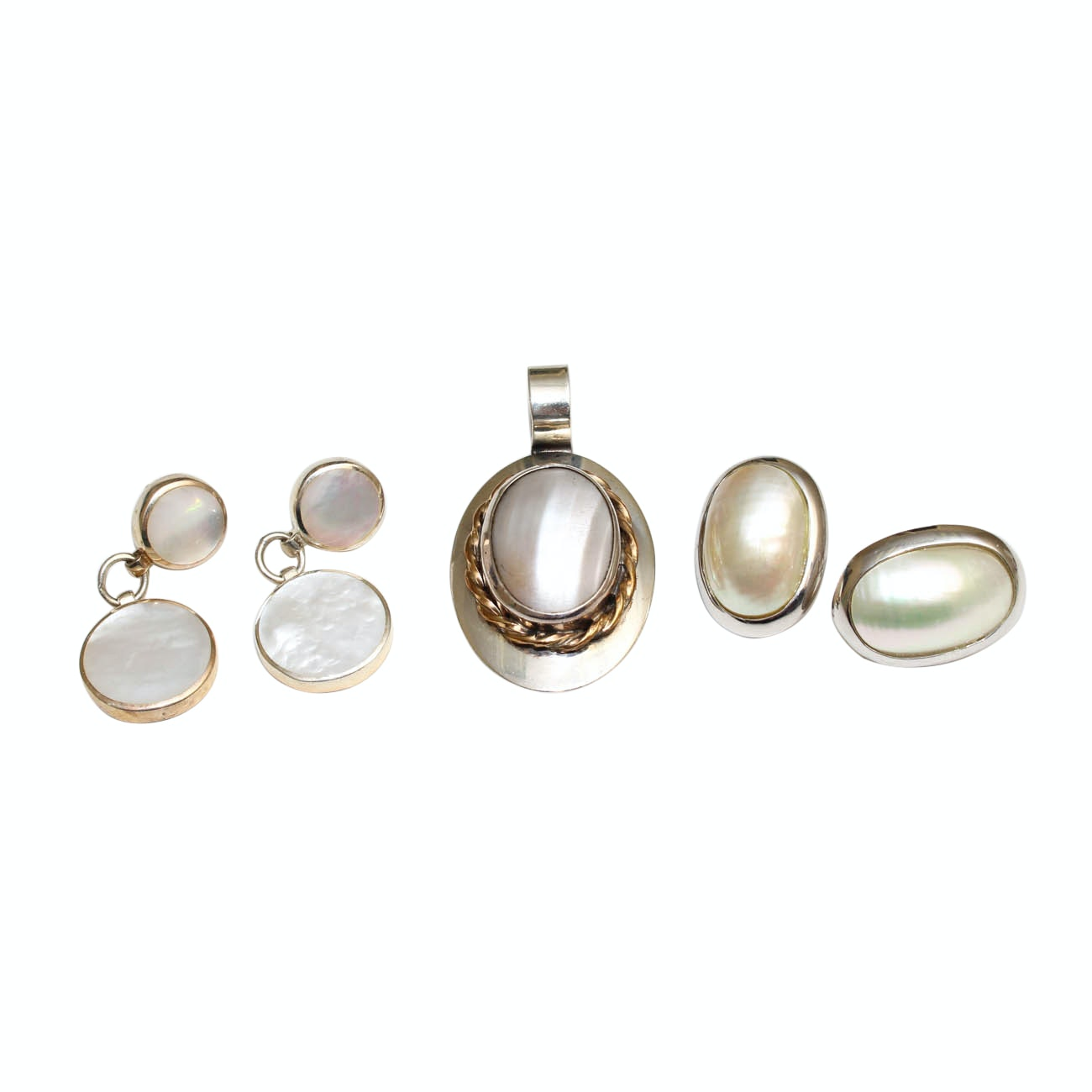 Sterling Silver, Mother of Pearl, and Shell Jewelry