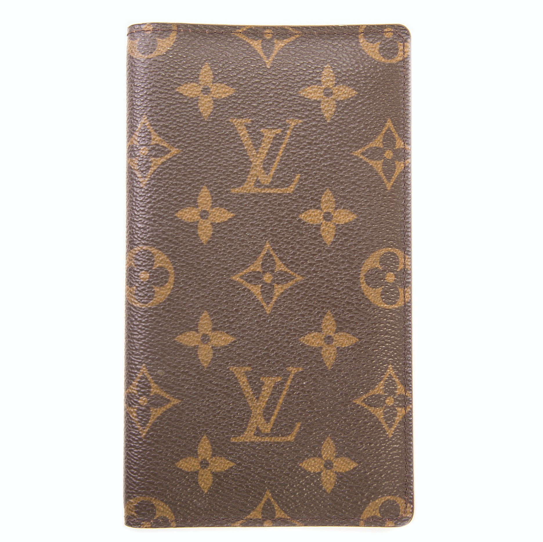 Louis Vuitton Monogram Leather Checkbook Cover