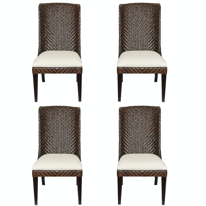 Bassett Woven Dining Chairs