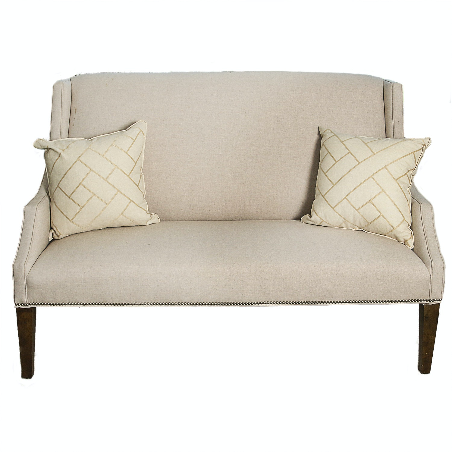 High Back Loveseat with Nailhead Trim