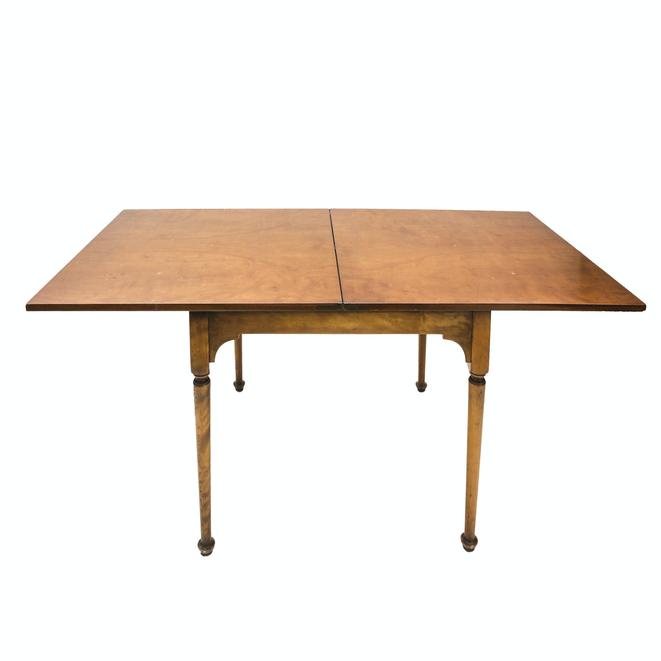 An antique Bernard and Simons Co. Poker Table