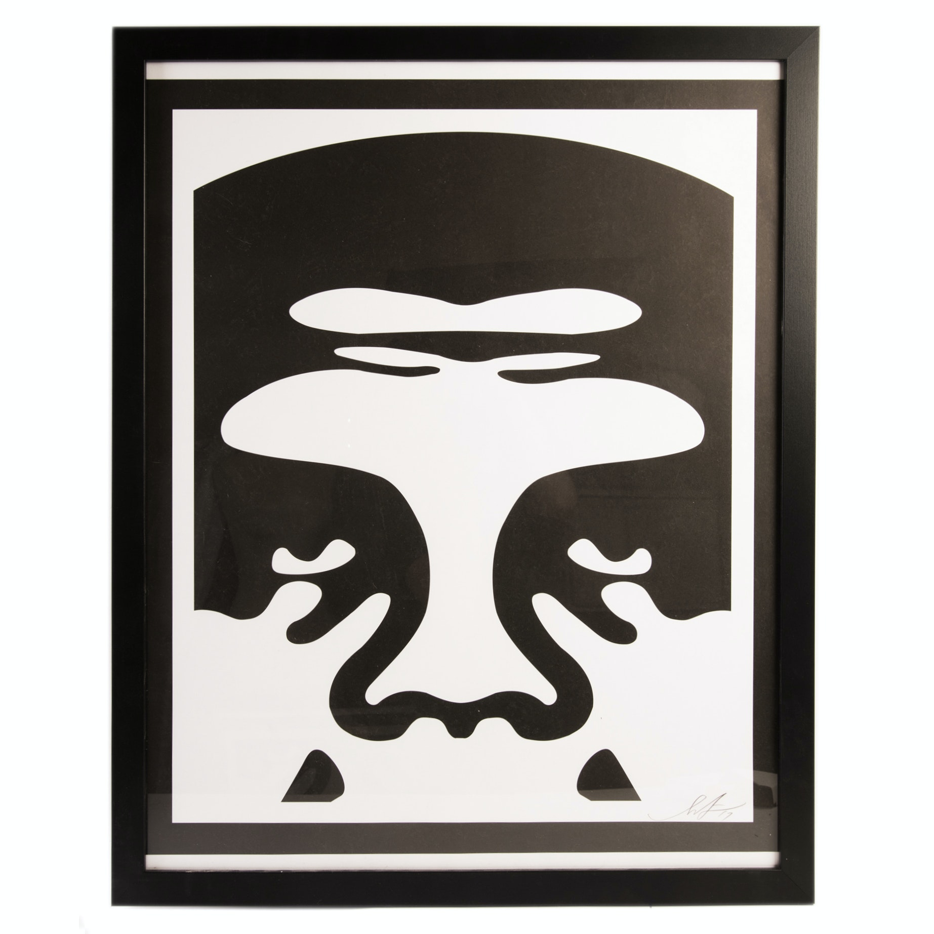 """Shepard Fairey Signed Offset Print Triptych """"Obey"""""""