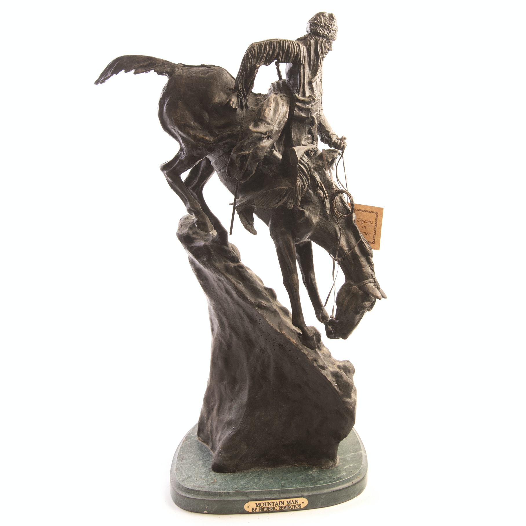 "Bronze Sculpture After Frederic Remington ""Mountain Man"""