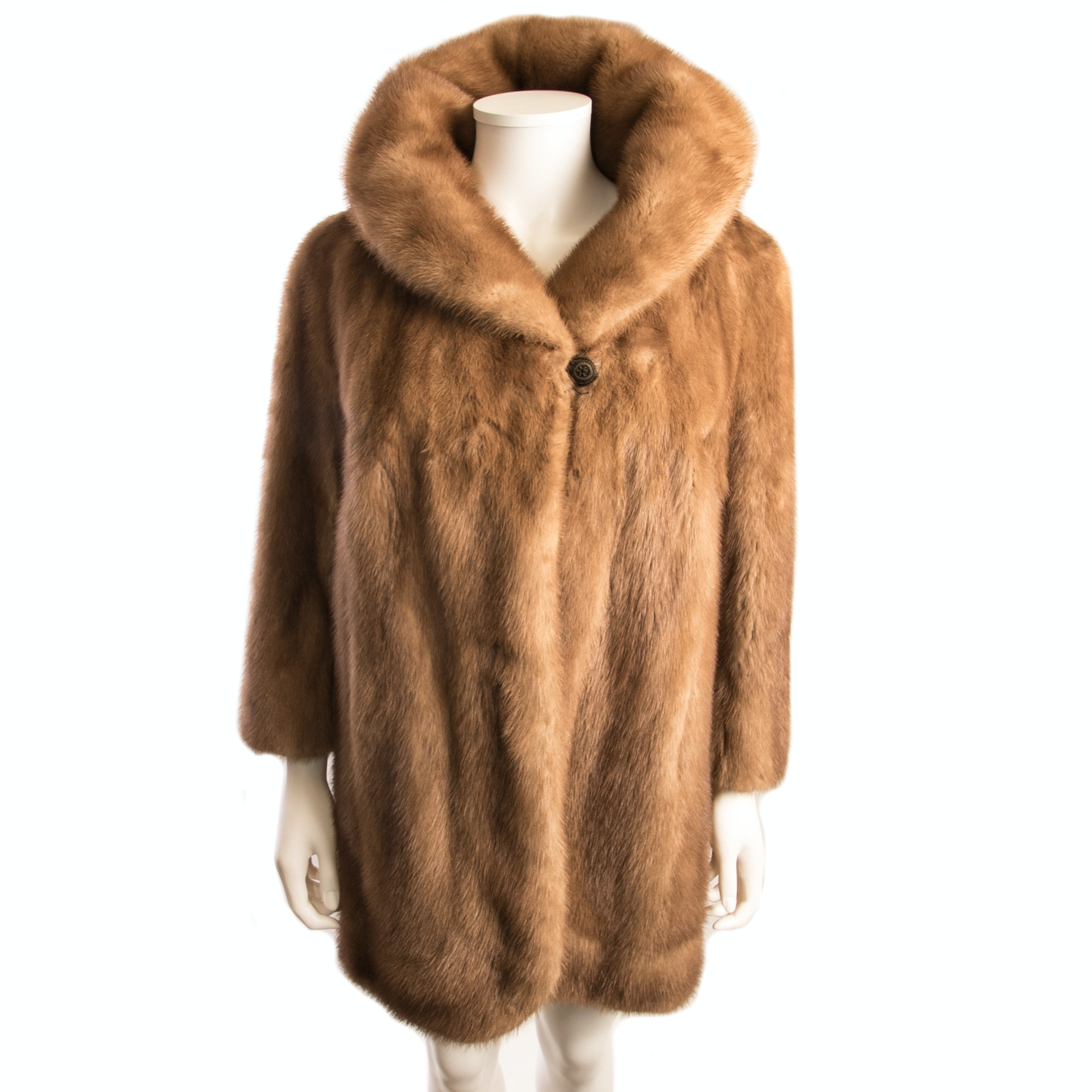EMBA Pastel Natural Mink Fur Coat