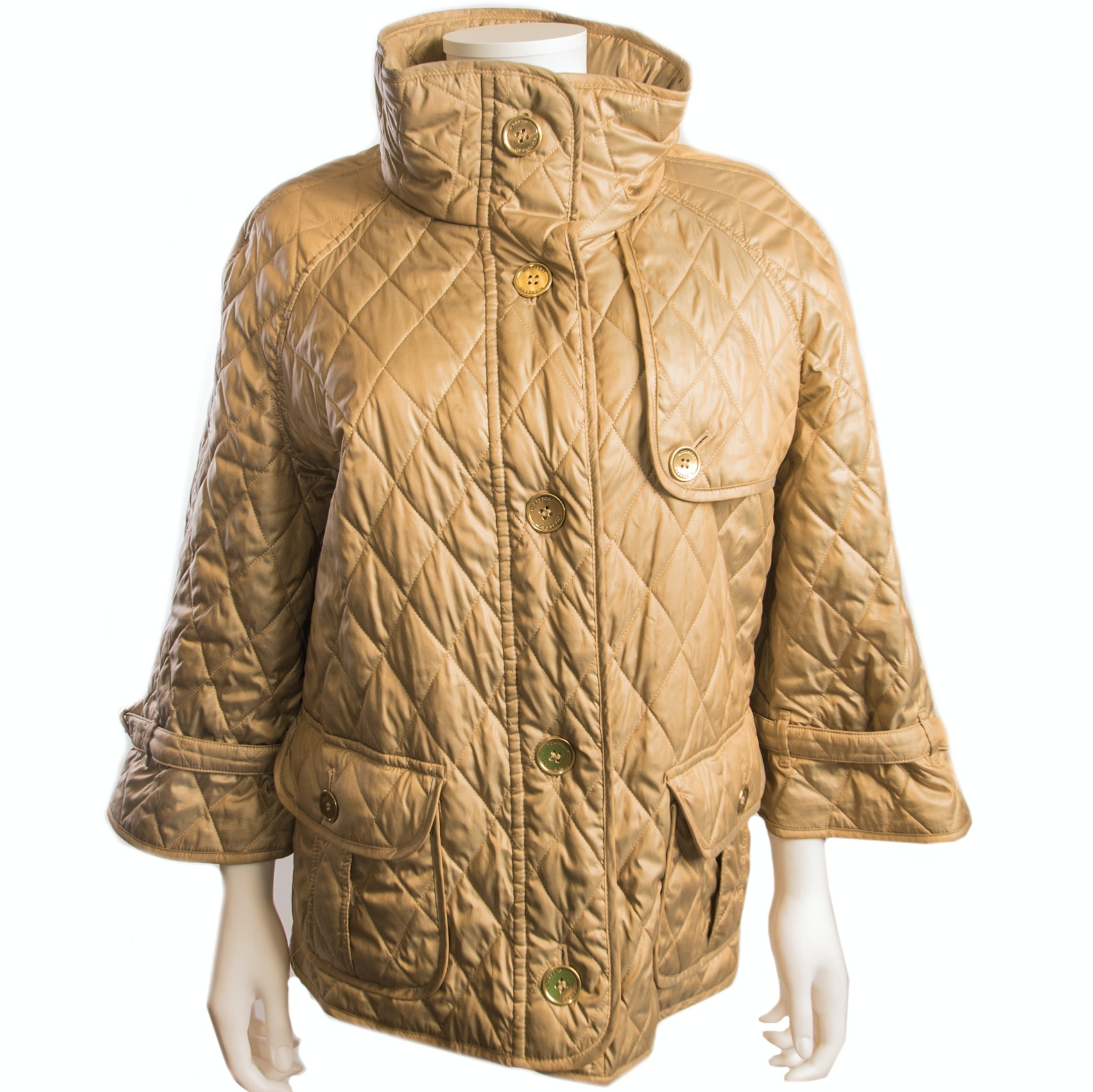 Burberry London Gold Quilted Jacket