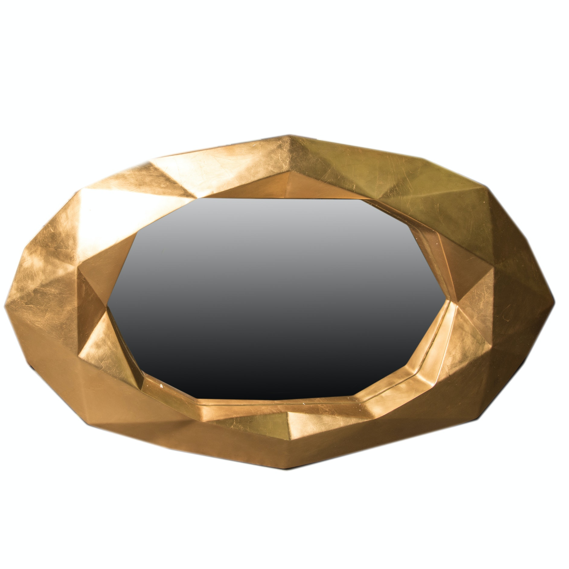 "Arteriors ""Fallon"" Gold Leaf Wall Mirror"