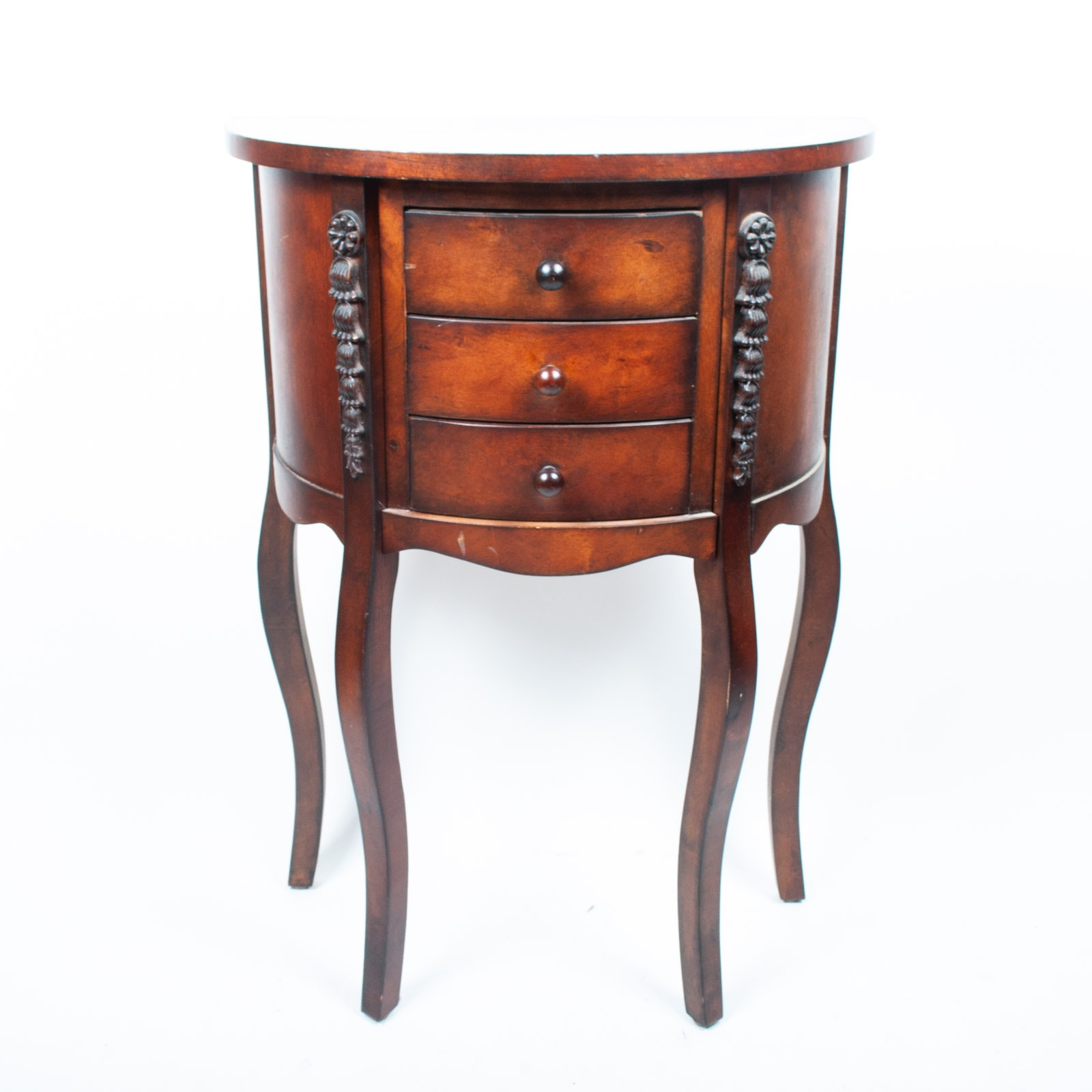 Demilune Entry Table With Drawers ...