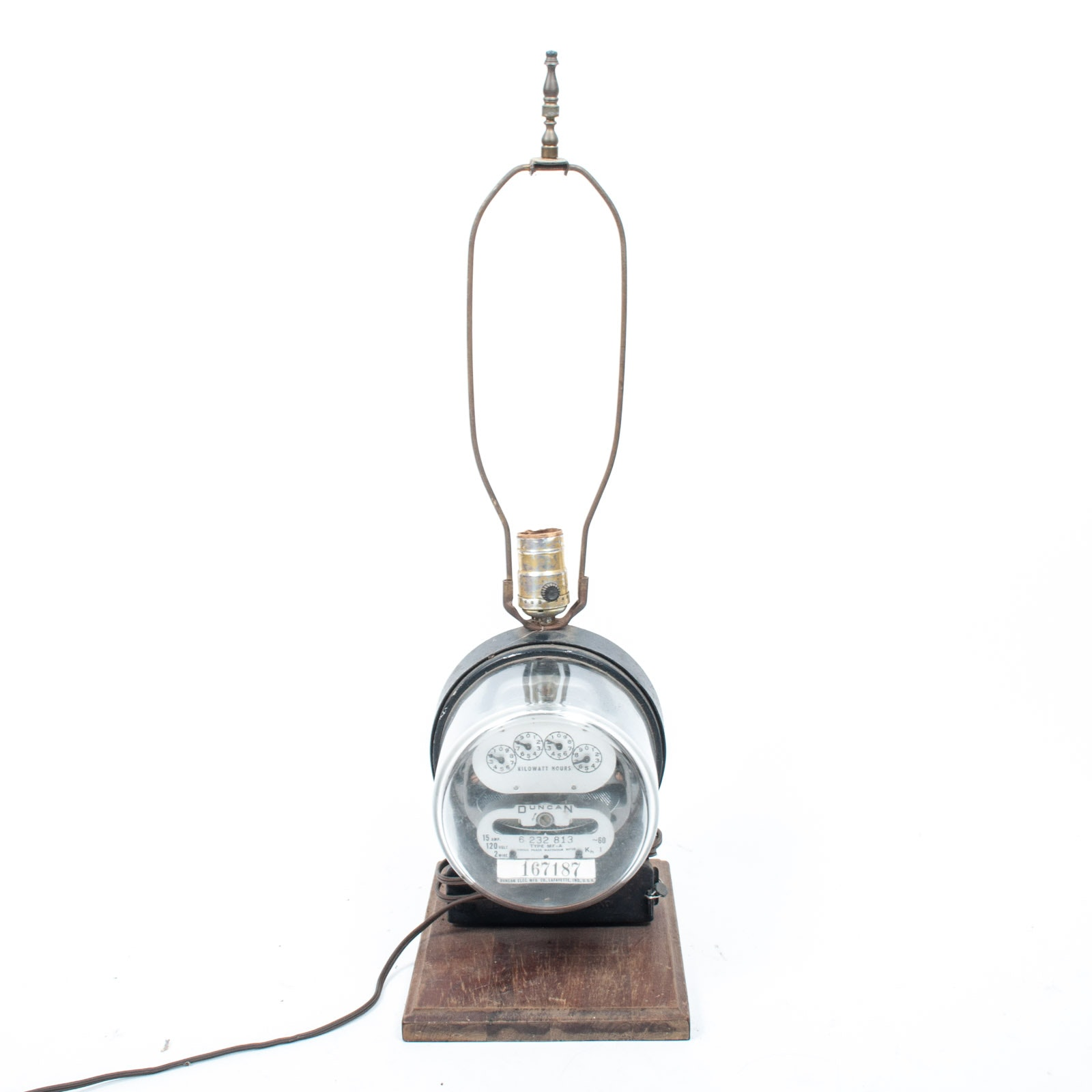 Novelty Duncan Electric Co Meter Table Lamp Ebth