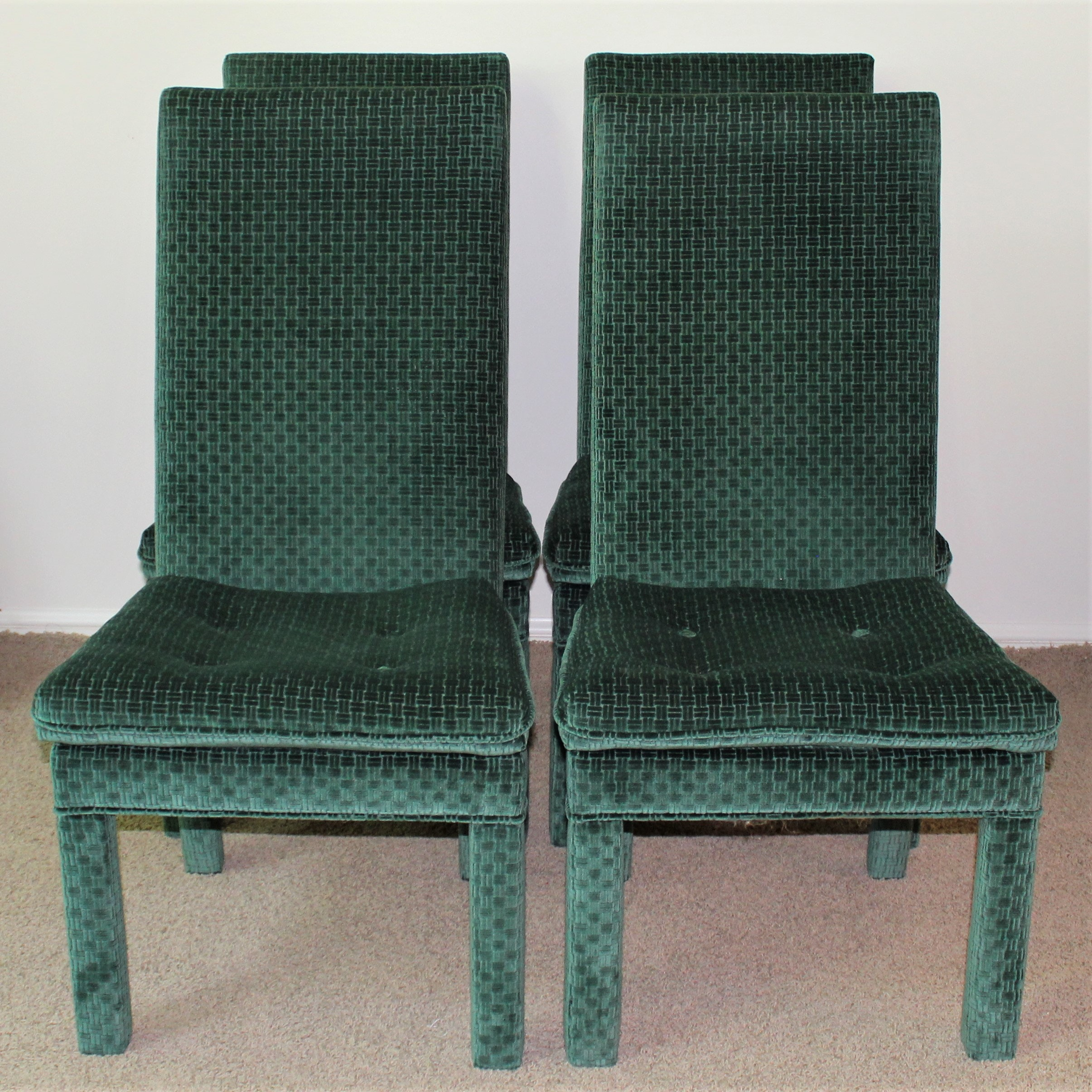Beau Four Parson Style Dining Chairs ...