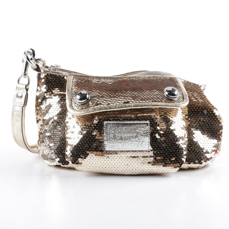 Coach Poppy Gold Tone Sequin Groovy Handbag   EBTH eb04d11232