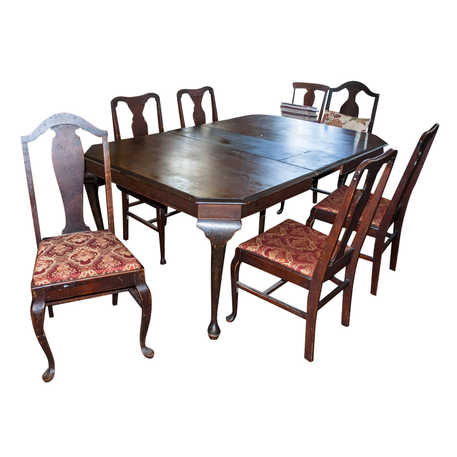 Charmant Vintage Voss Table Company Dining Table And Six Chairs ...