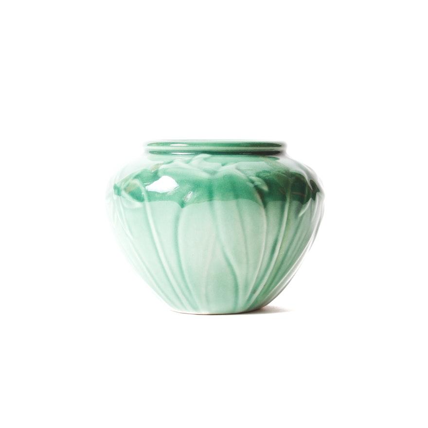 1956 Rookwood Pottery Daffodil Vase Ebth