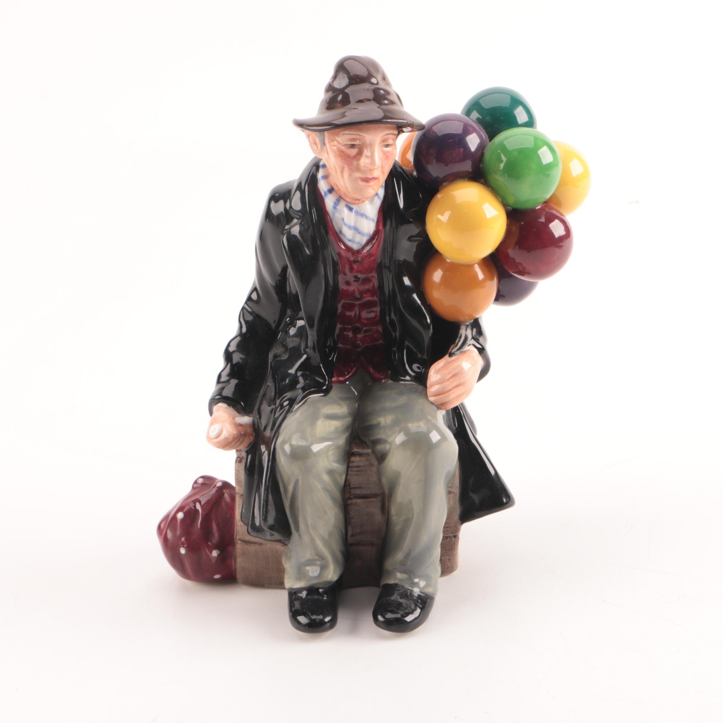 "Royal Doulton ""The Balloon Man"" Porcelain Figurine"