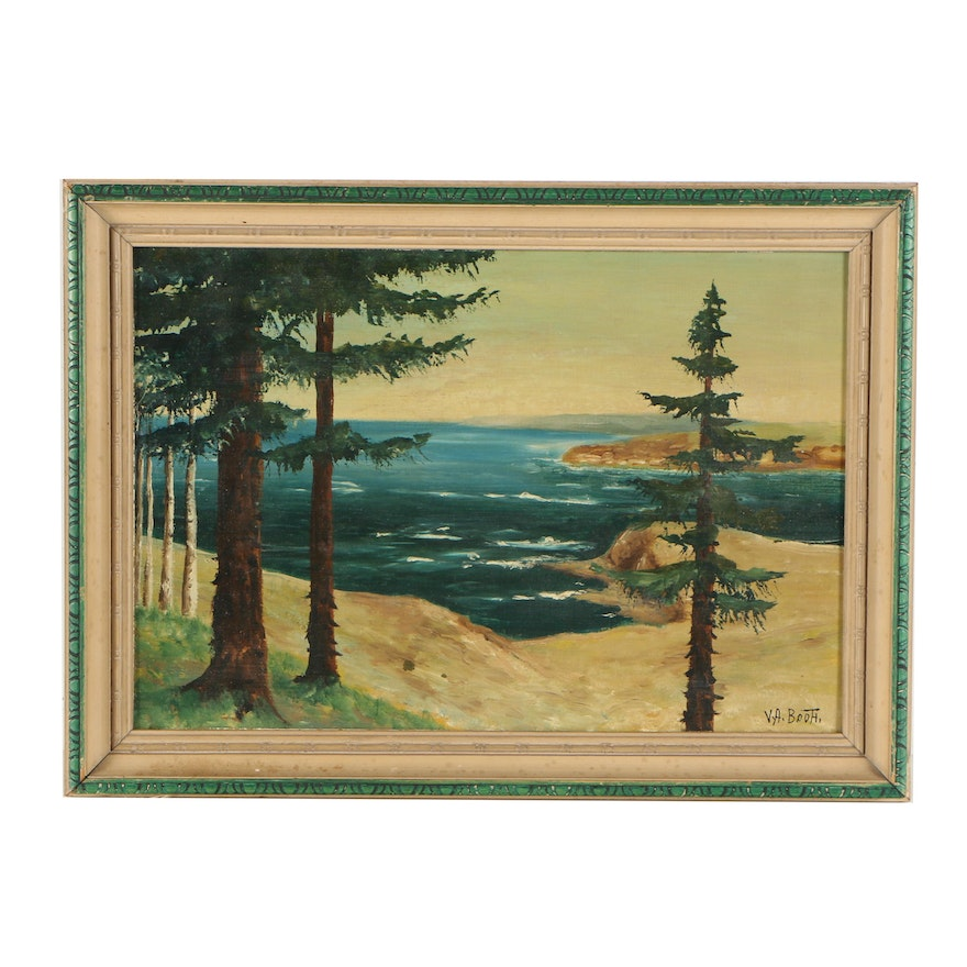 V  A  Booth Oil Painting