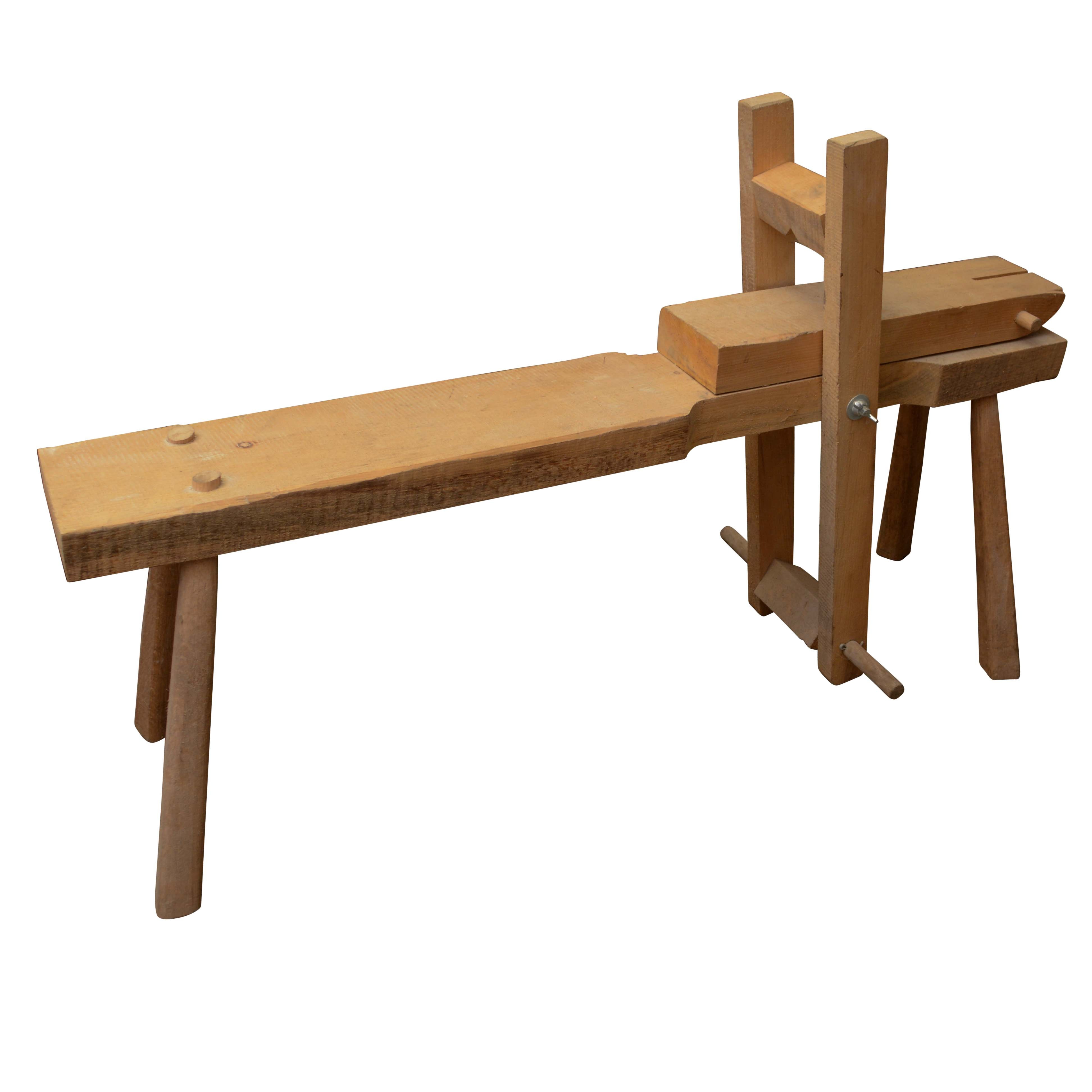 Handcrafted Wooden Carpentry Bench