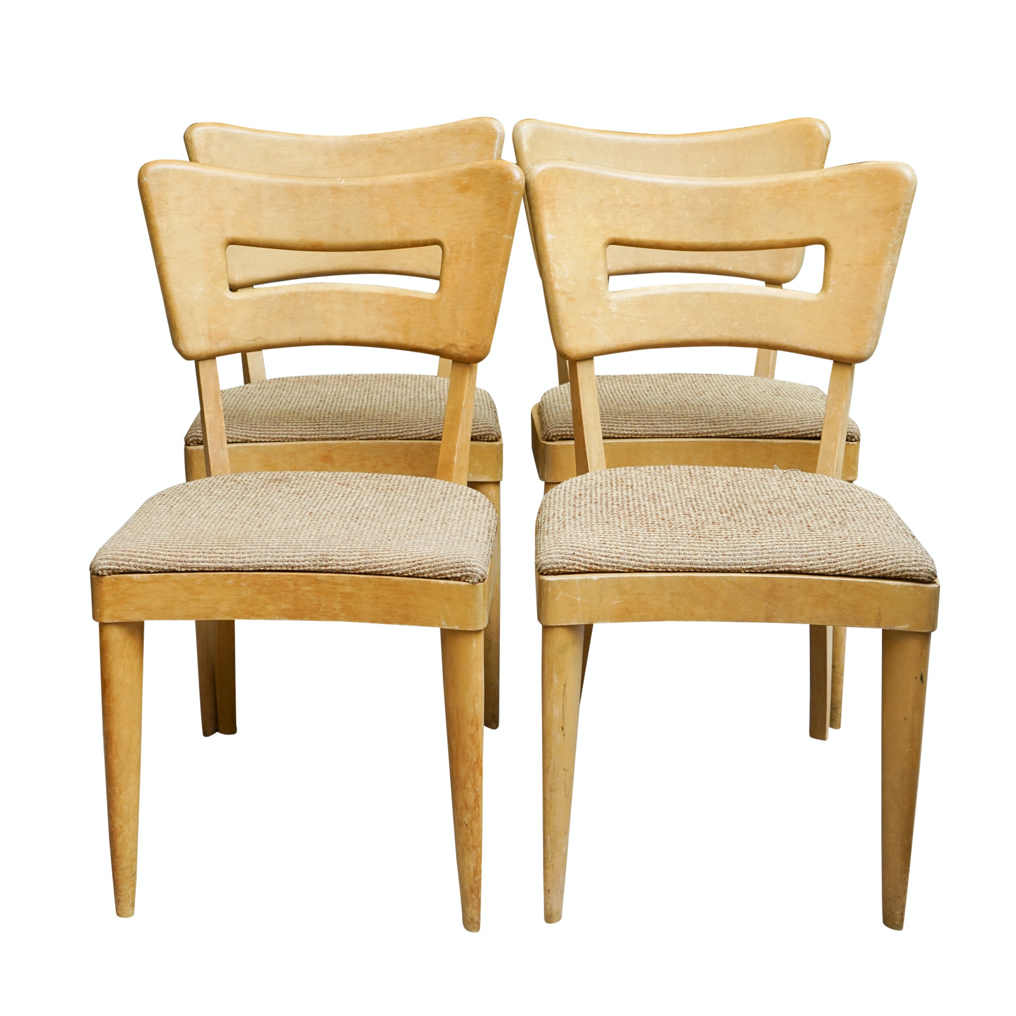 "Mid Century Modern ""Dog Biscuit"" Side Chairs by Heywood-Wakefield"