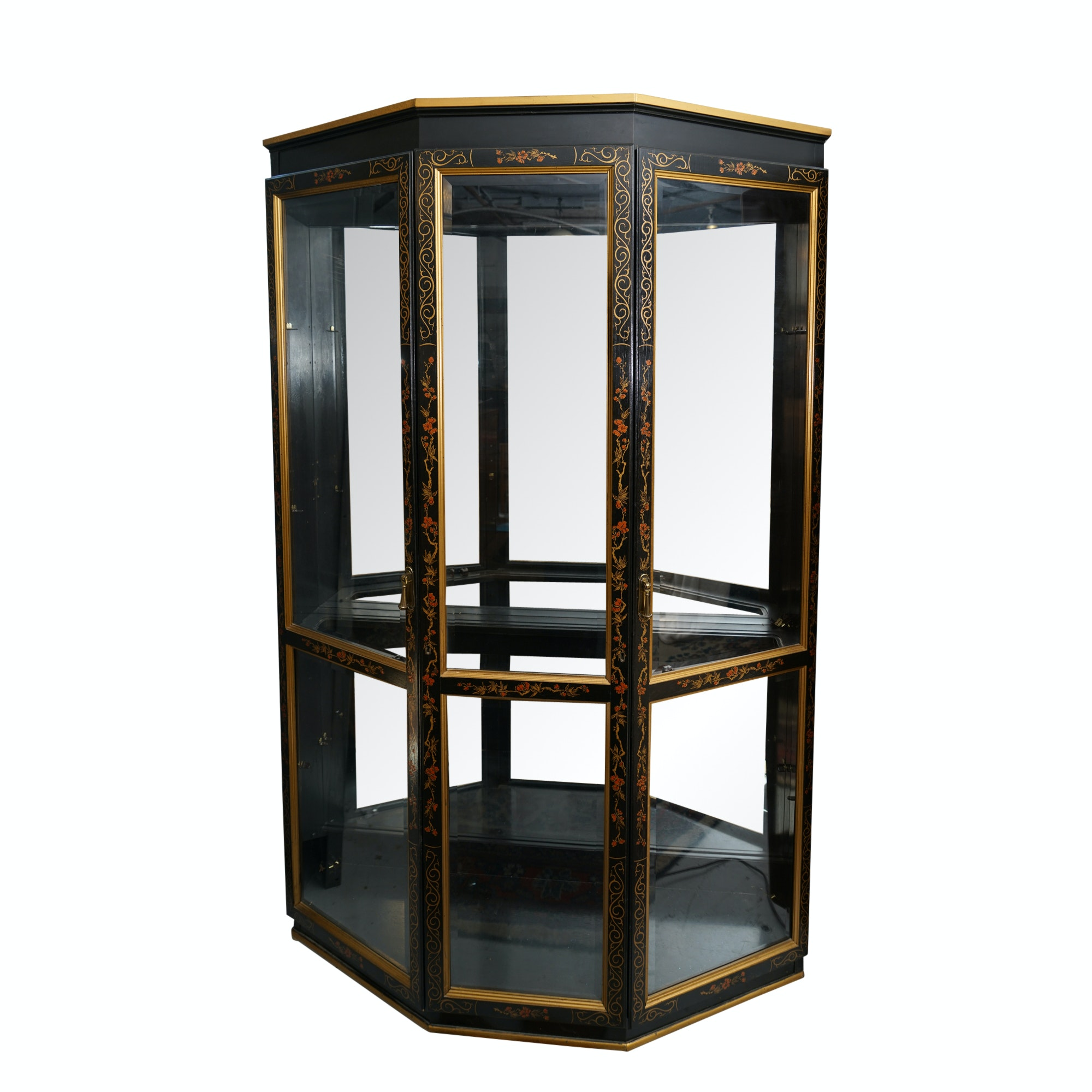 Vintage Asian Style Curio Cabinet