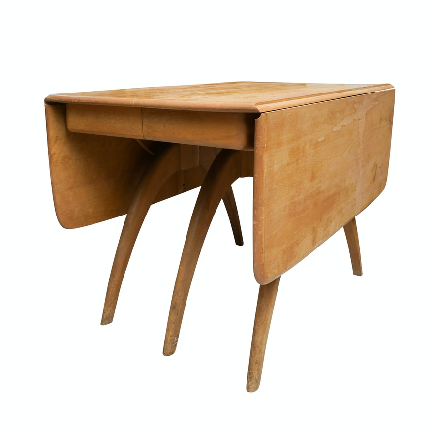 """Dining Table With Three Extension Leaves And Six Matching: """"Butterfly Drop Leaf"""" Dining Table With Extension Leaves"""