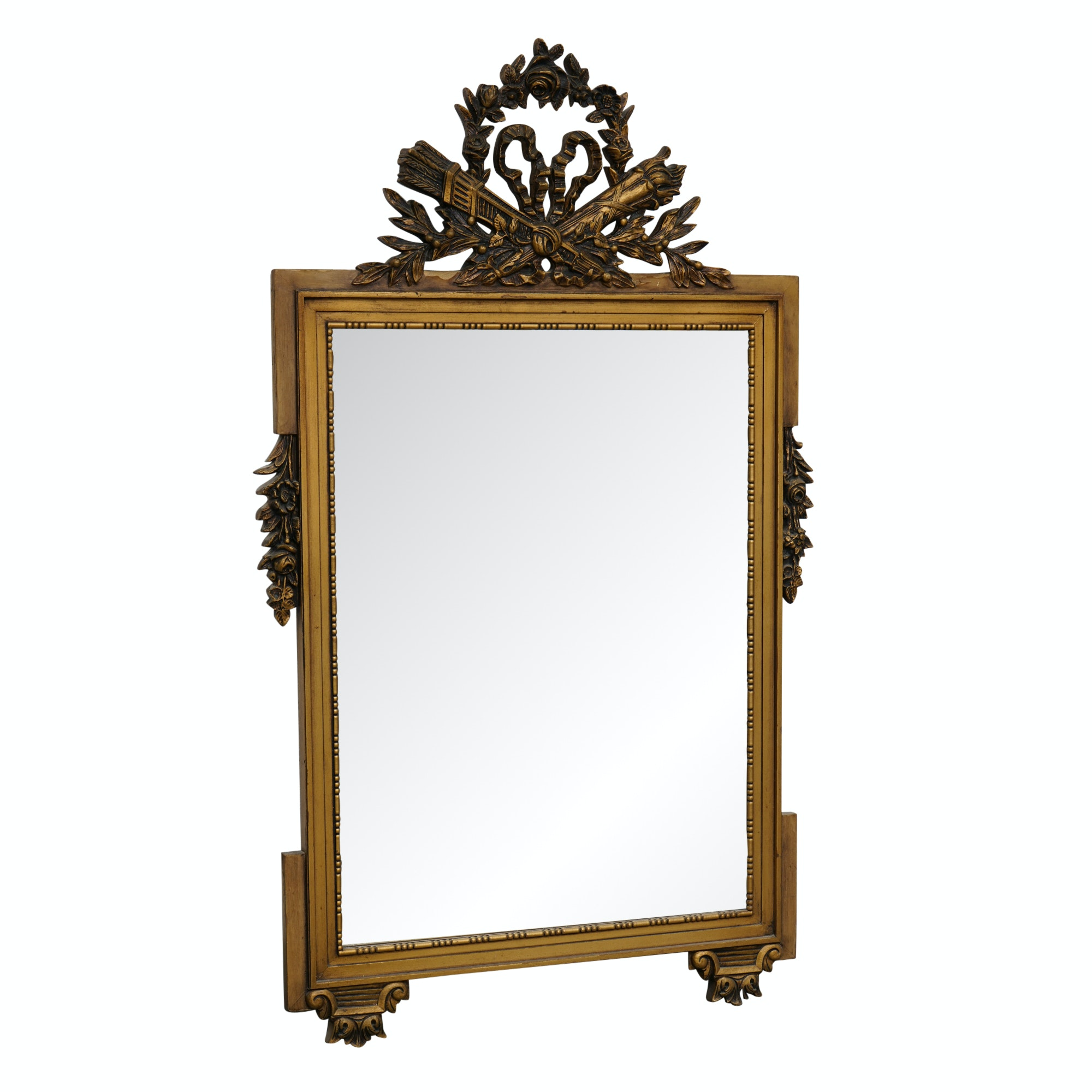 Vintage Empire Style Giltwood Wall Mirror