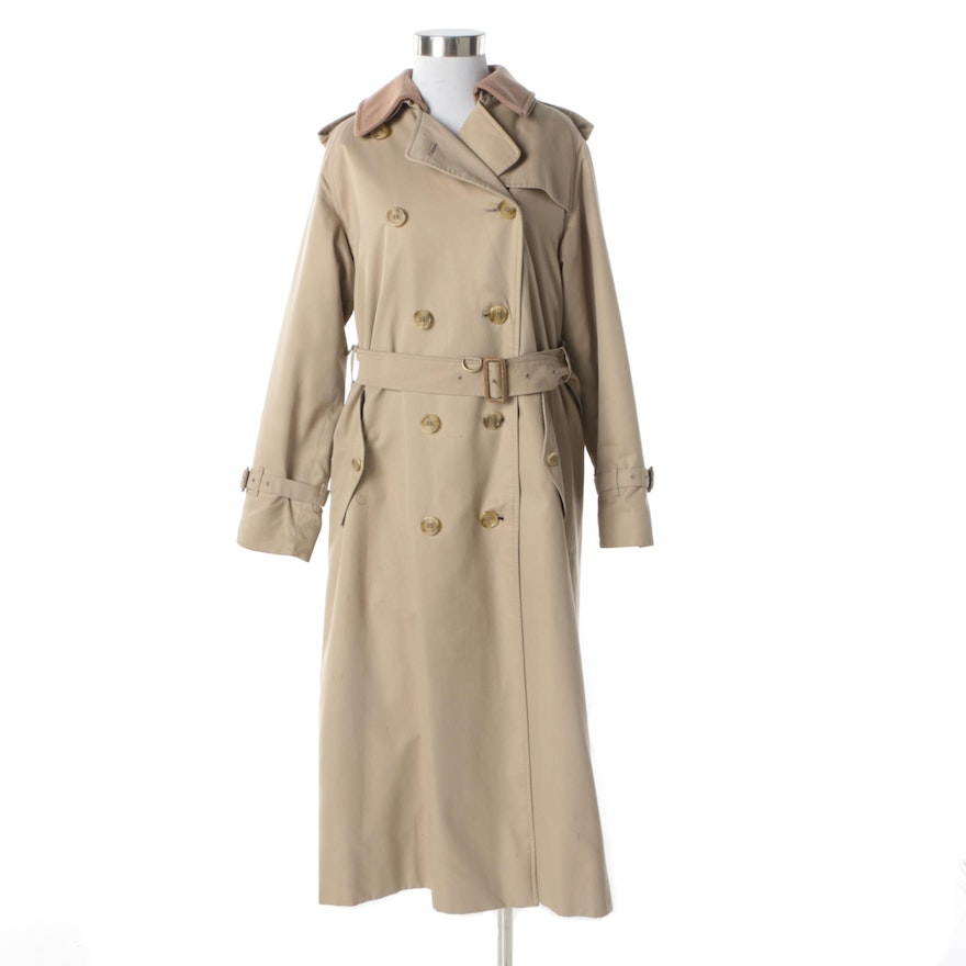 2b013df2b13 Women s 1980s Vintage Burberry Double-Breasted Trench Coat with Removable  Lining   EBTH