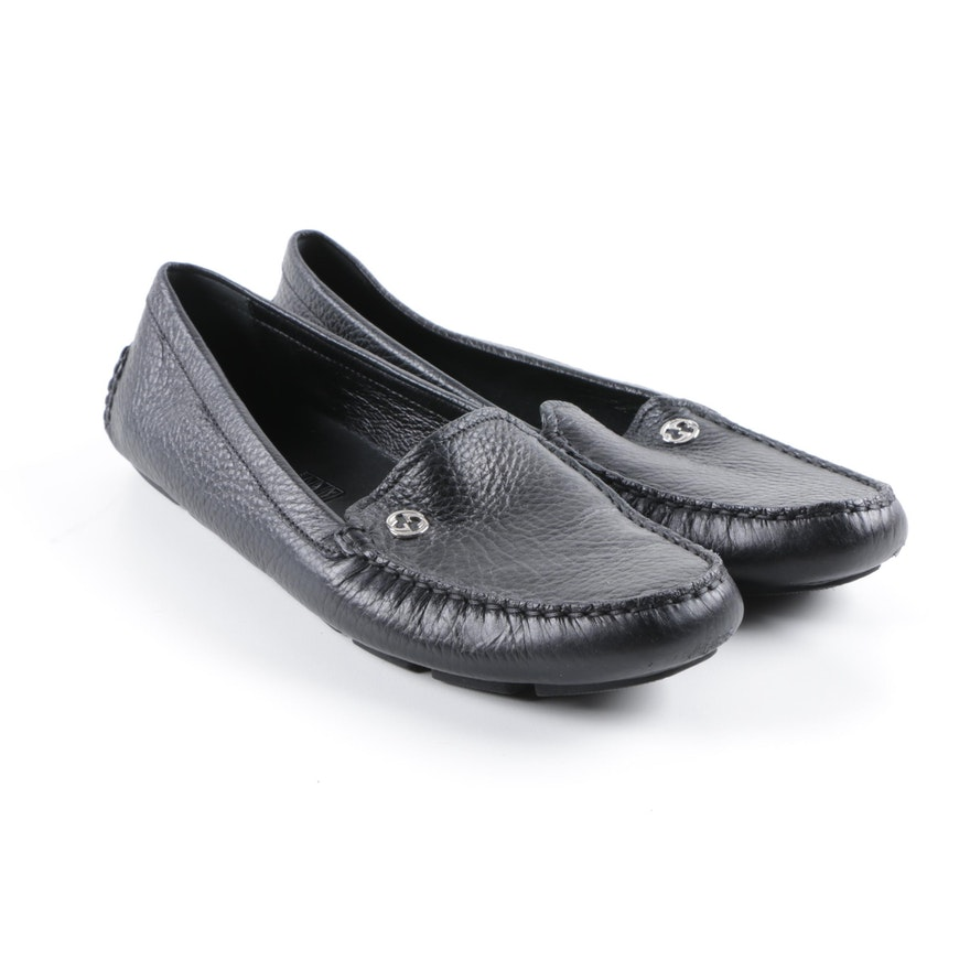 b147e49f8d7 Women s Gucci Black Leather Loafers   EBTH