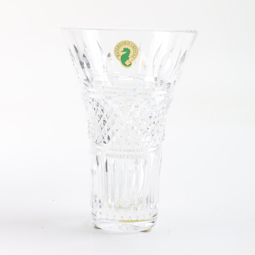Waterford Crystal Irish Lace Vase Ebth