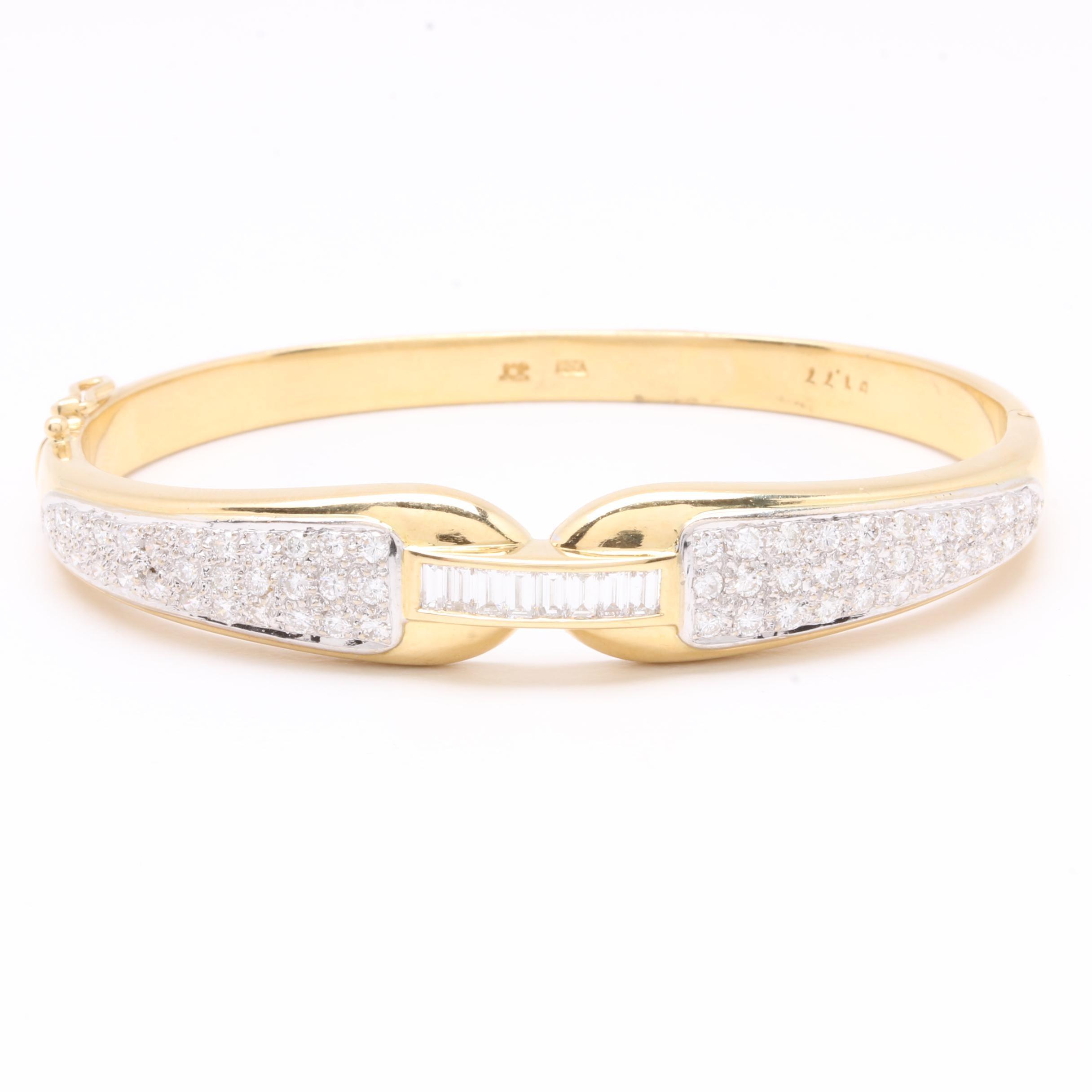 18K Yellow Gold 1.95 CTW Diamond Bangle