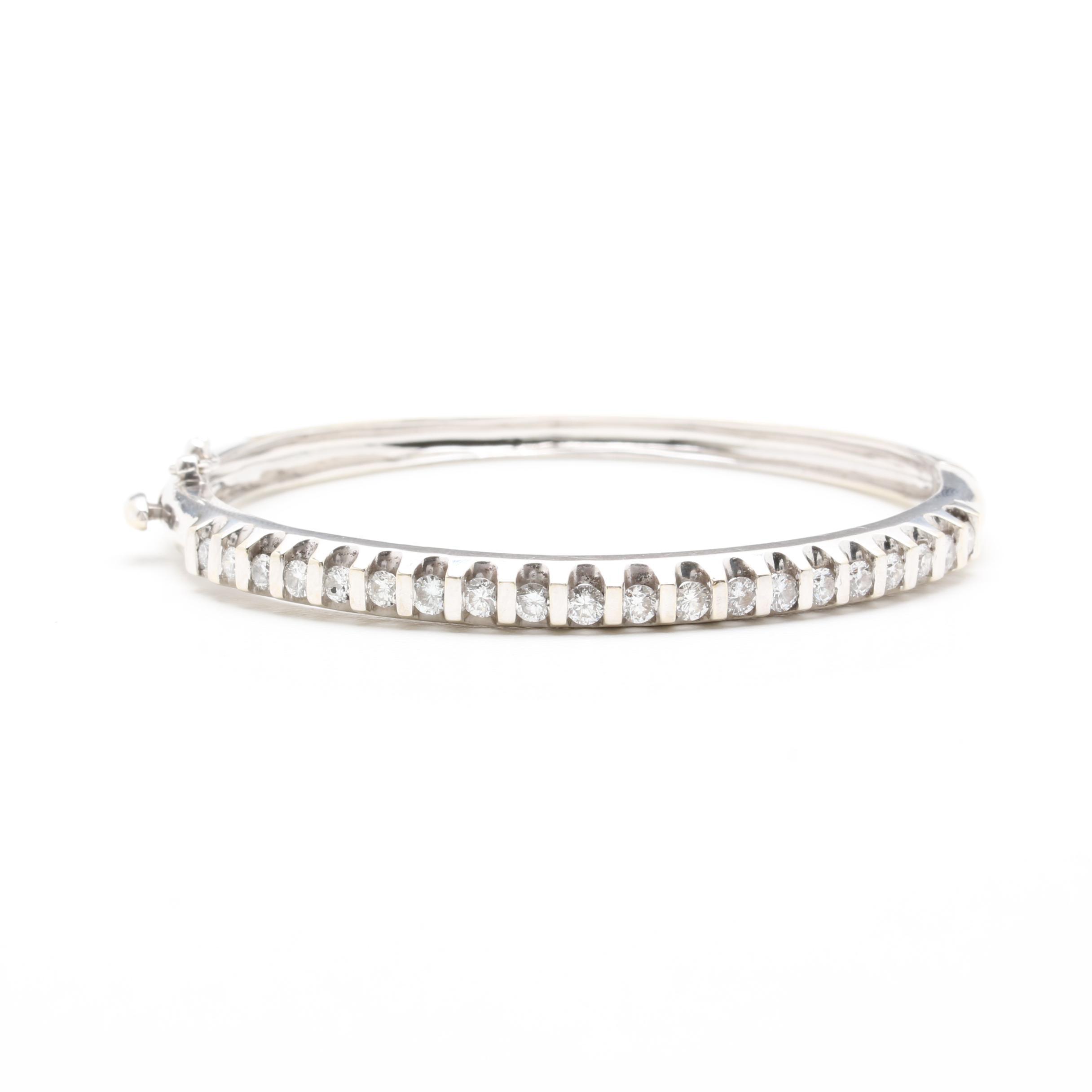 14K White Gold 1.25 CTW Diamond Bracelet