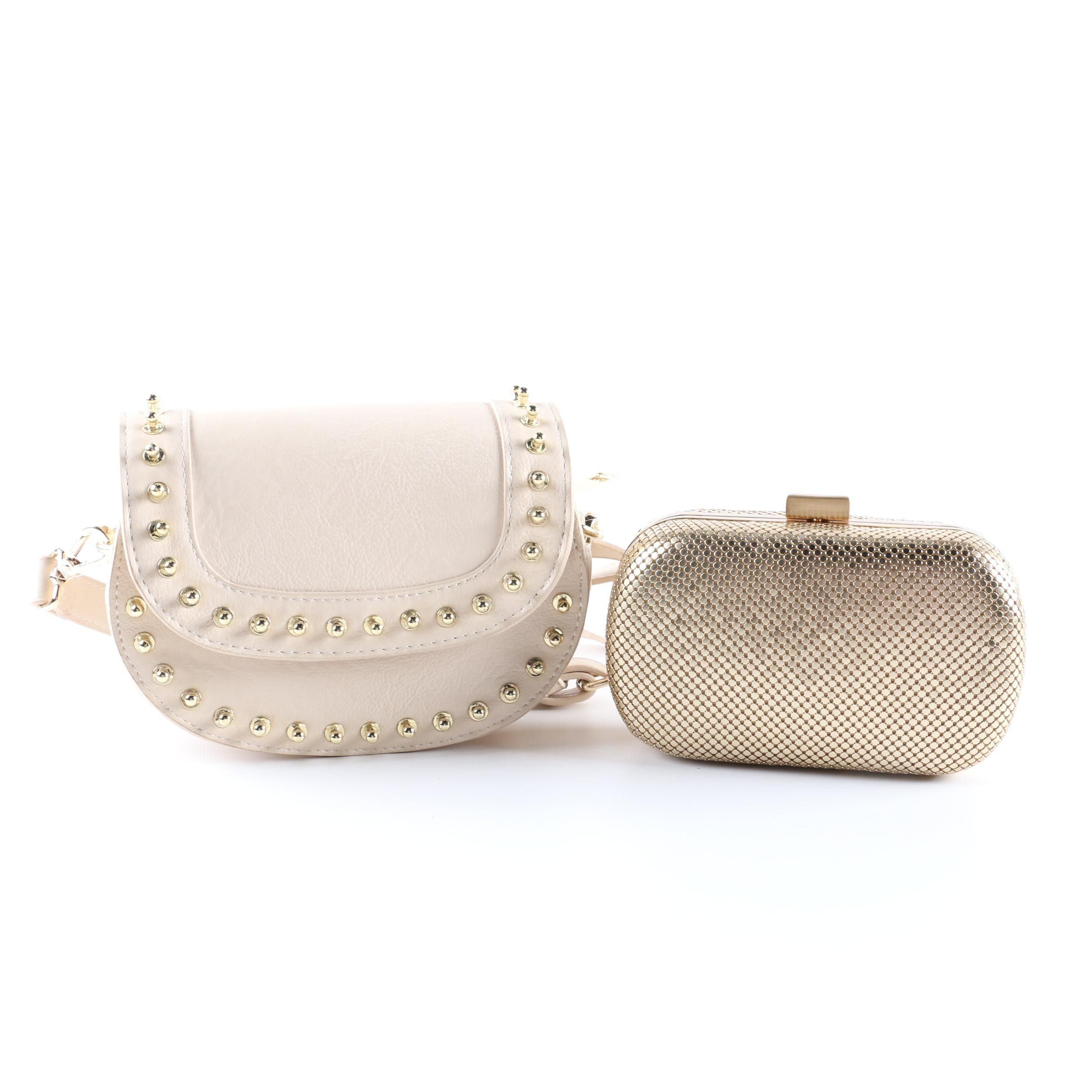 Big Buddha Handbag And Whiting Davis Gold Tone Mesh Minaudiere Ebth