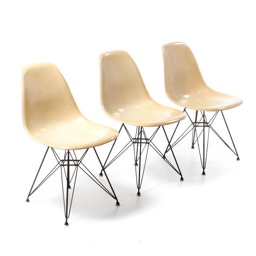 Vintage Eames For Herman Miller Fibergl Shell Dining Chairs