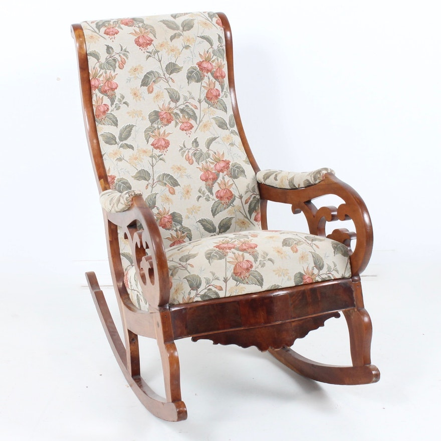 Antique Victorian Style Rocking Chair ... - Antique Victorian Style Rocking Chair : EBTH
