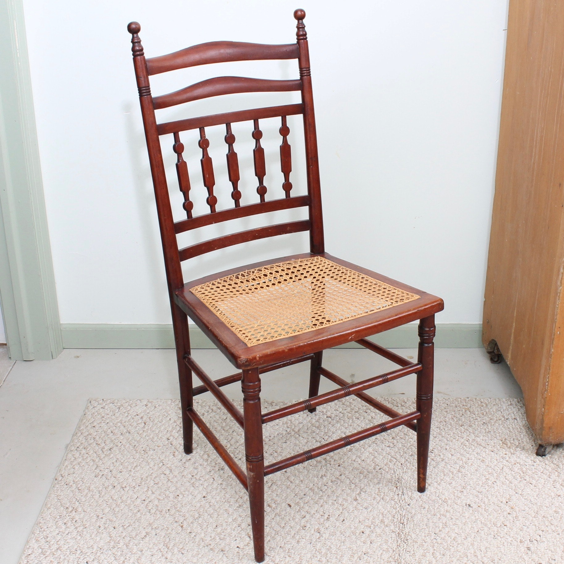 Antique Dining Chair with Cane Seat