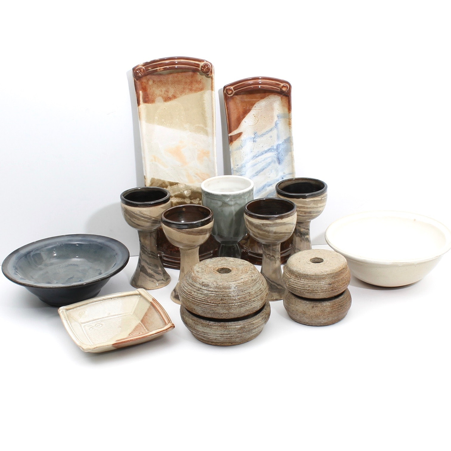 Fred Borthwick Hand Thrown and Built Art Pottery