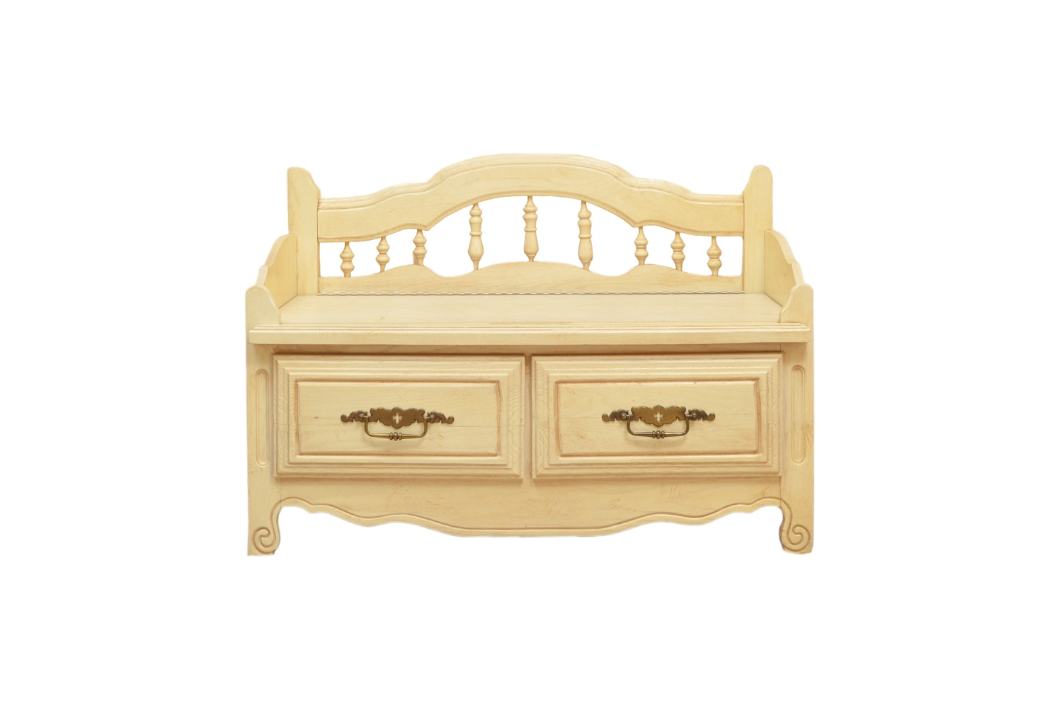 Blonde Wooden Bench Trunk