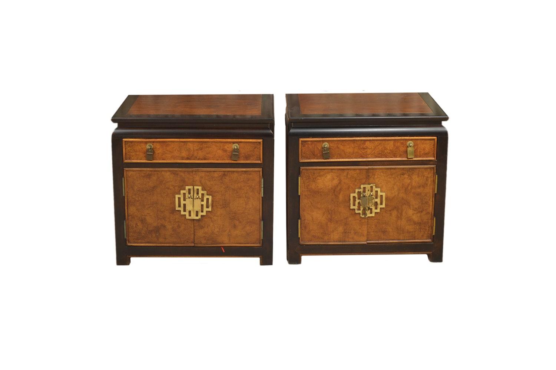 Chinese Inspired Nightstand Pair by Century Furniture