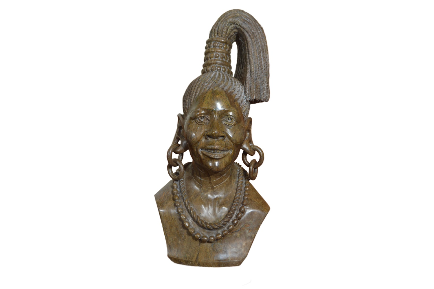 Sailas Makumba Carved Female Bust