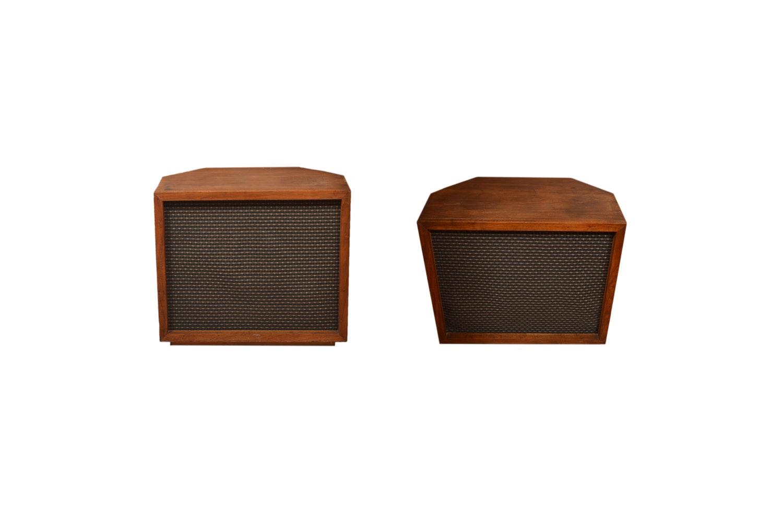 Walnut Veneer Cabinet Speakers