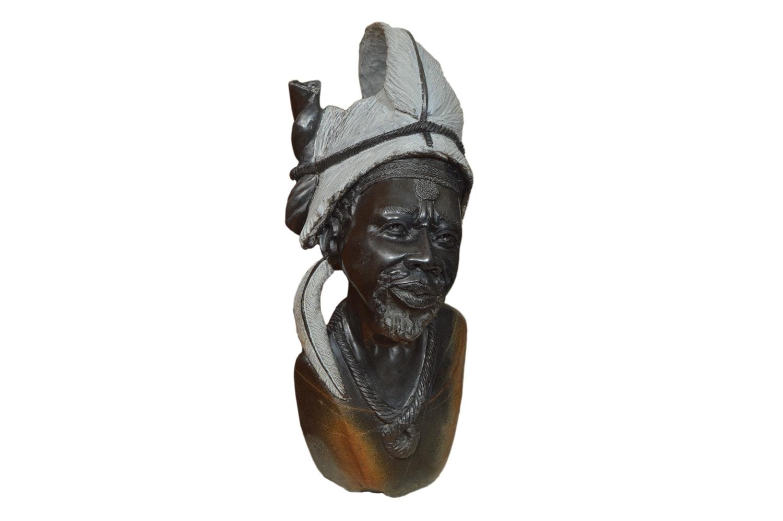 Shama Witty Carved Stone Shona Bust