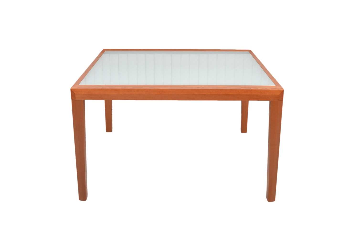 Opaque Glass Draw Leaf Table