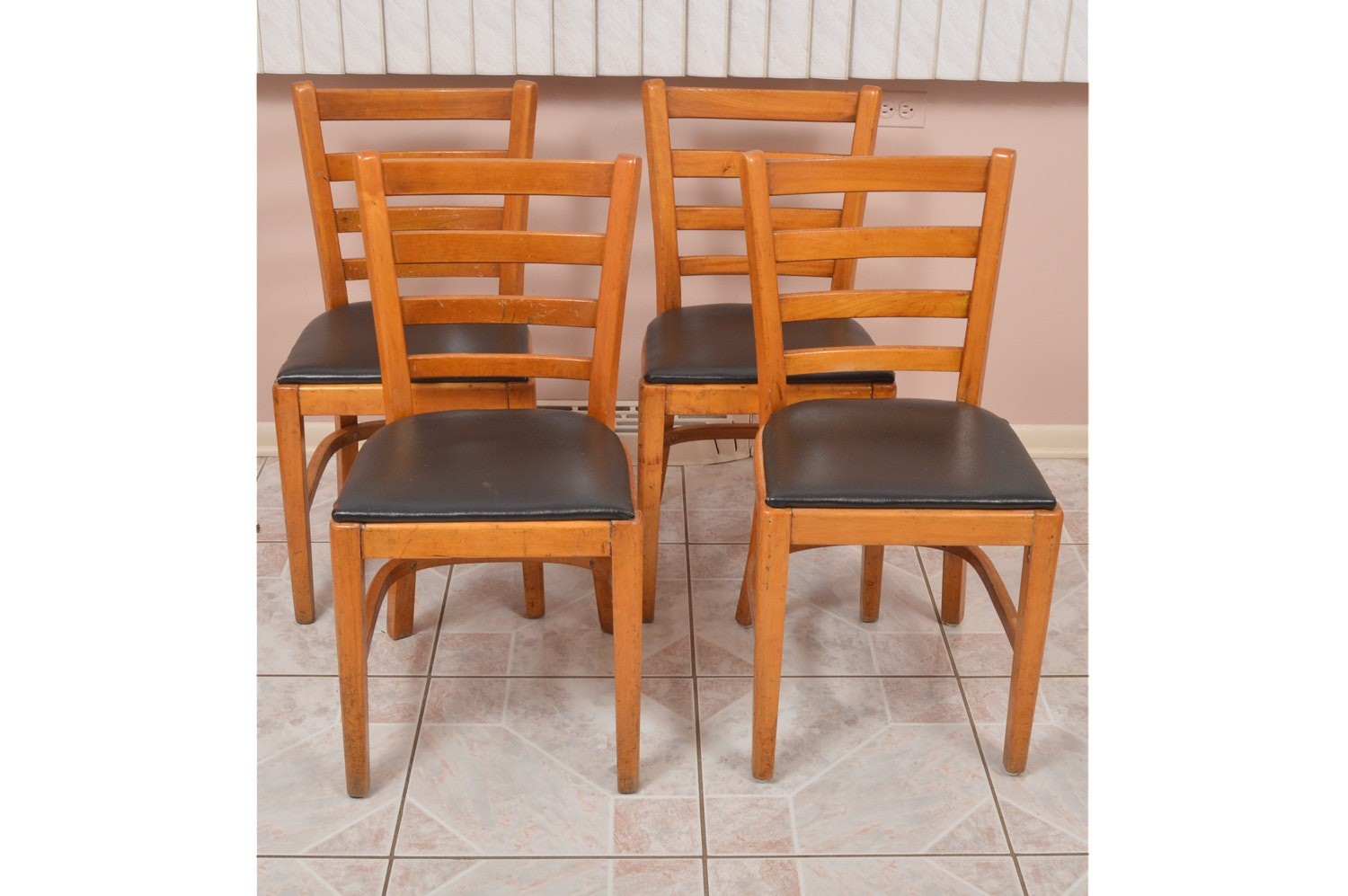 Vintage Ladderback Chairs by The Buckstaff Company