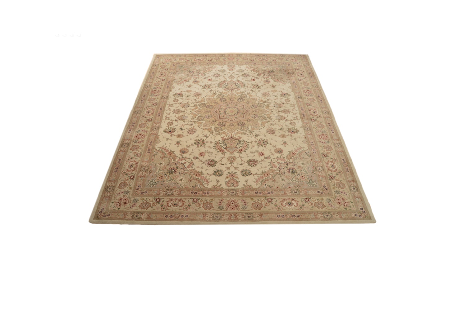 Tufted Indo-Persian Tabriz Style Area Rug