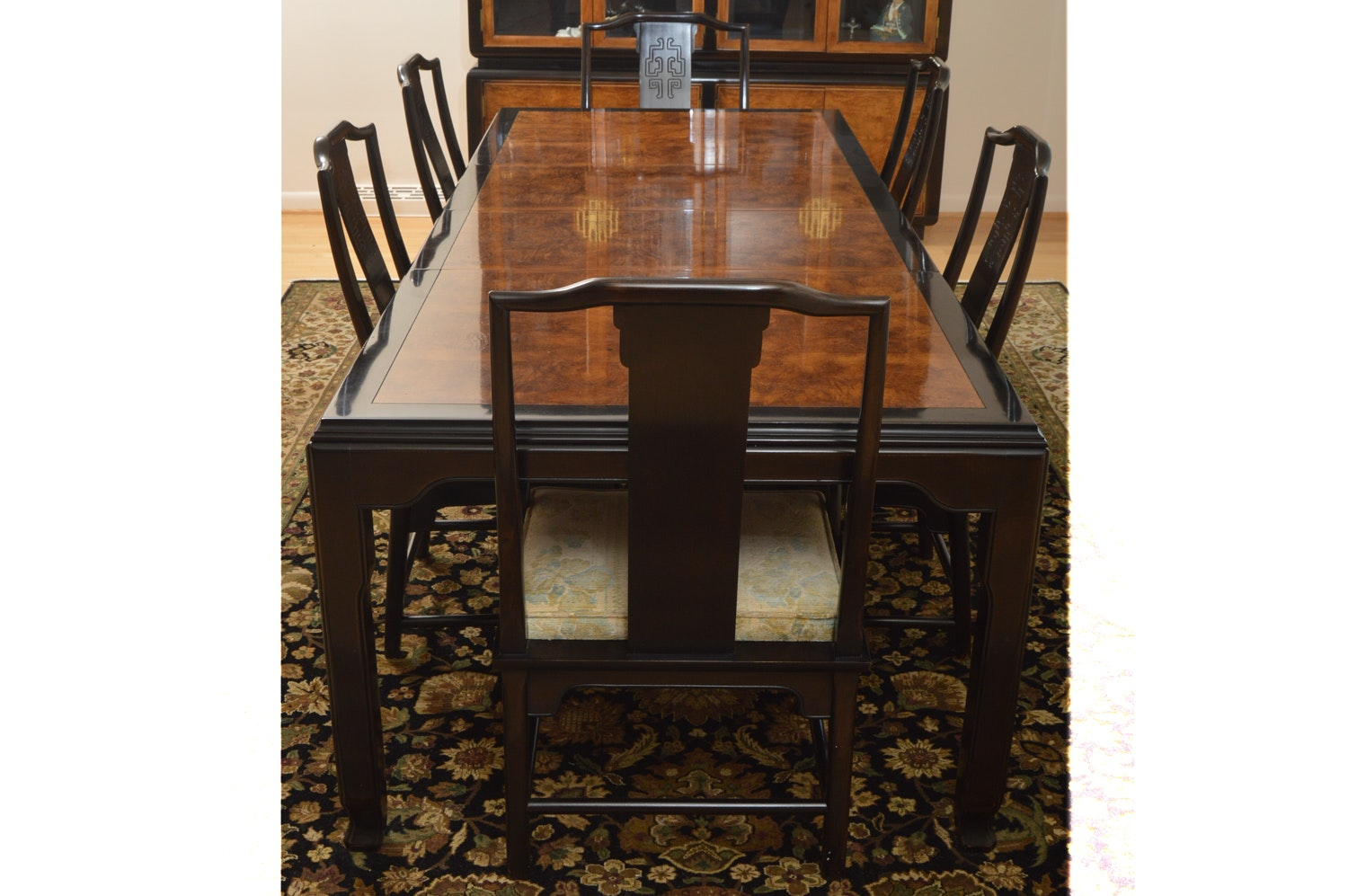 Chinese Inspired Dining Table and Chairs by Century Furniture