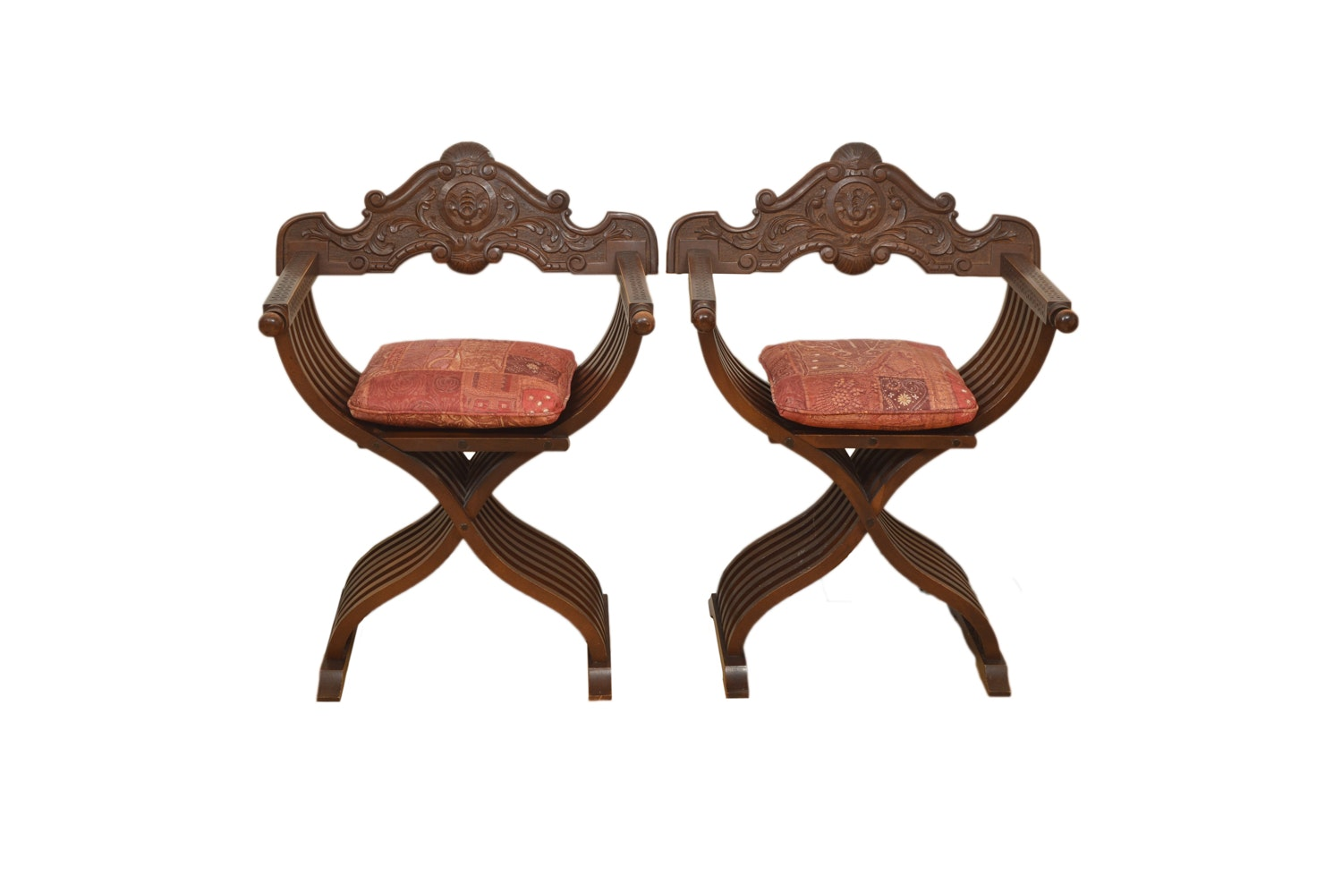 Pair of Savonarola Style Chairs