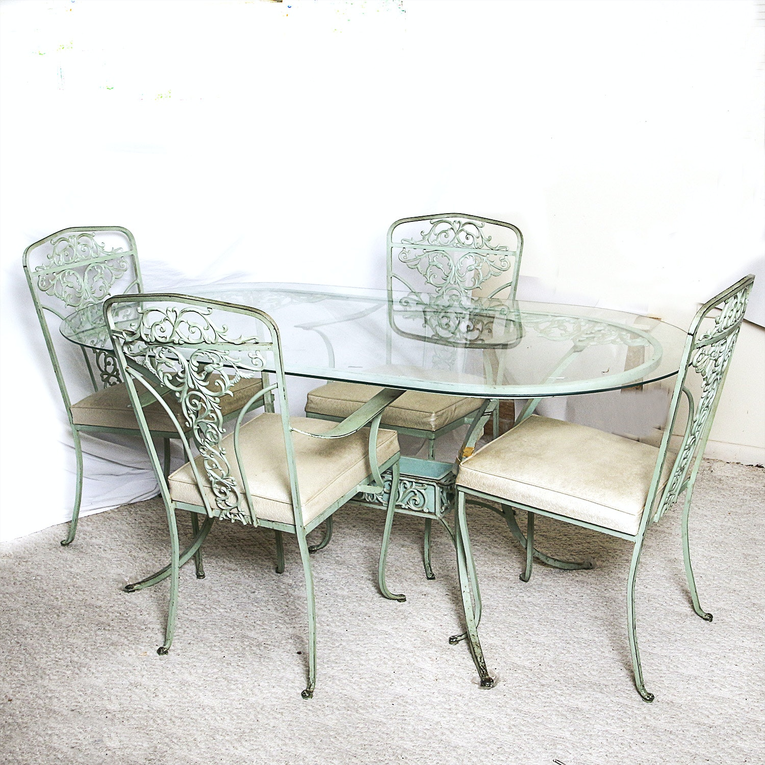 Cast Metal  Patio Dining Set