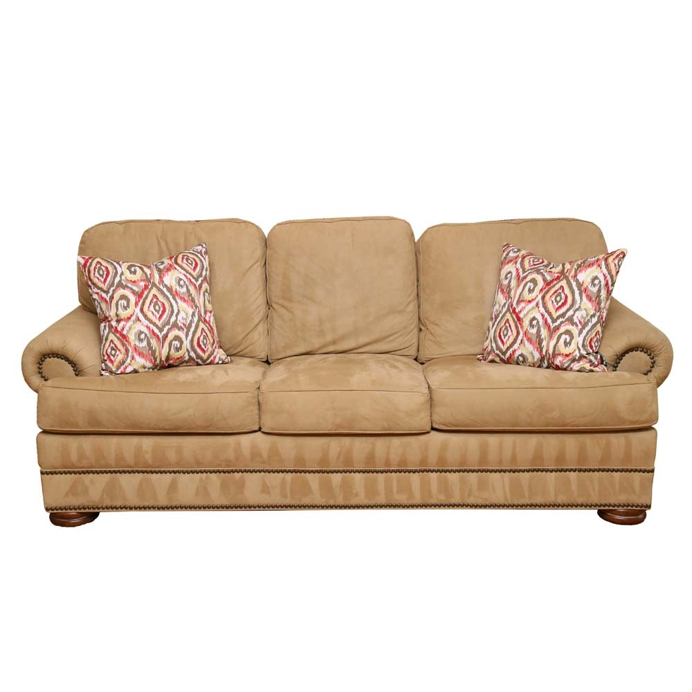 Delicieux Suede Sleeper Sofa By Thomasville Furniture ...