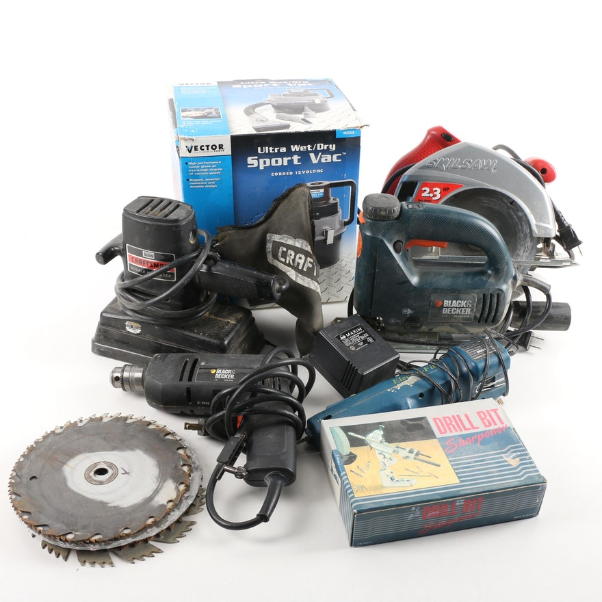 vector wet dry vac skil circular saw black decker drill and more