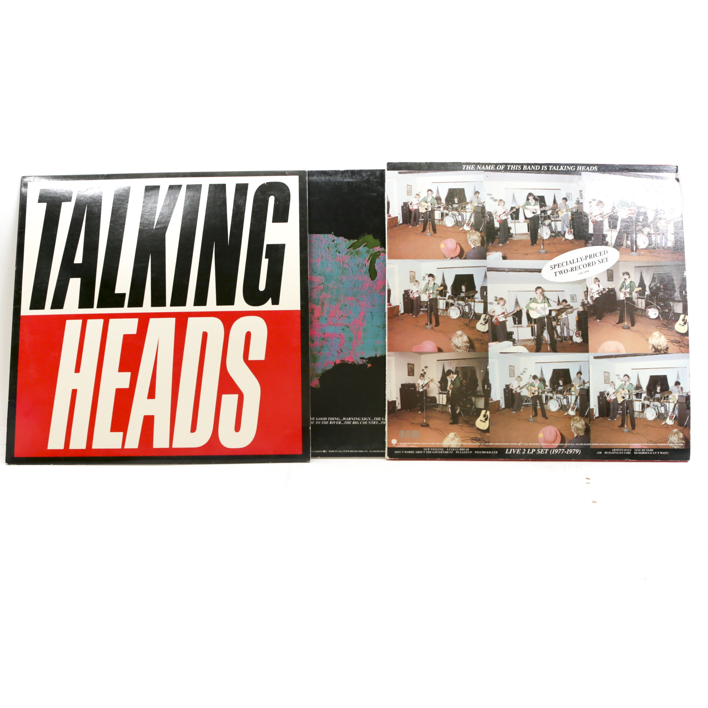 """Talking Heads LP Records, Including """"More Songs About Buildings and Food"""""""